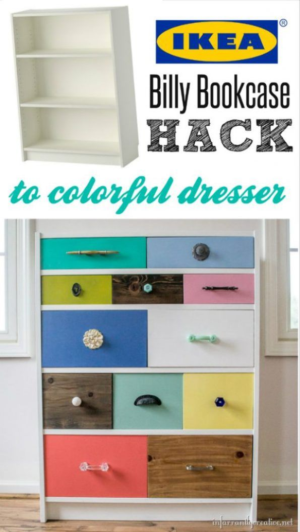 Ikea Billy Bookcase To Drawer Hack Infarrantly Creative Ikea Billy Bookcase Hack Ikea Billy Ikea Billy Bookcase