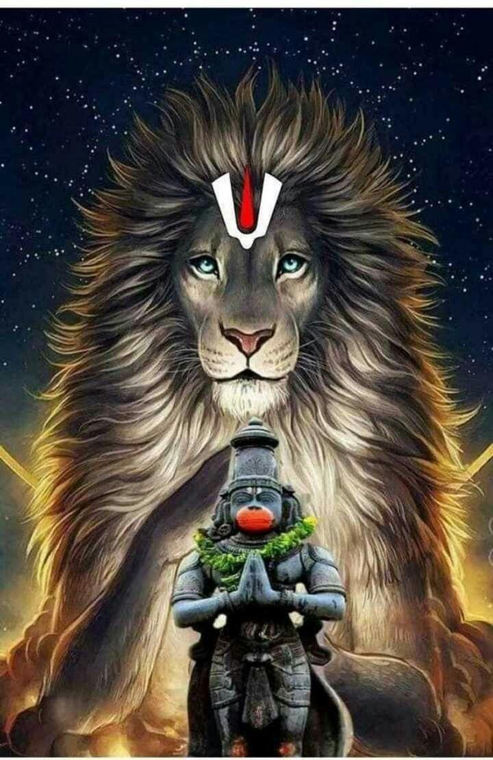 Hanuman Ji Wallpaper With Lion