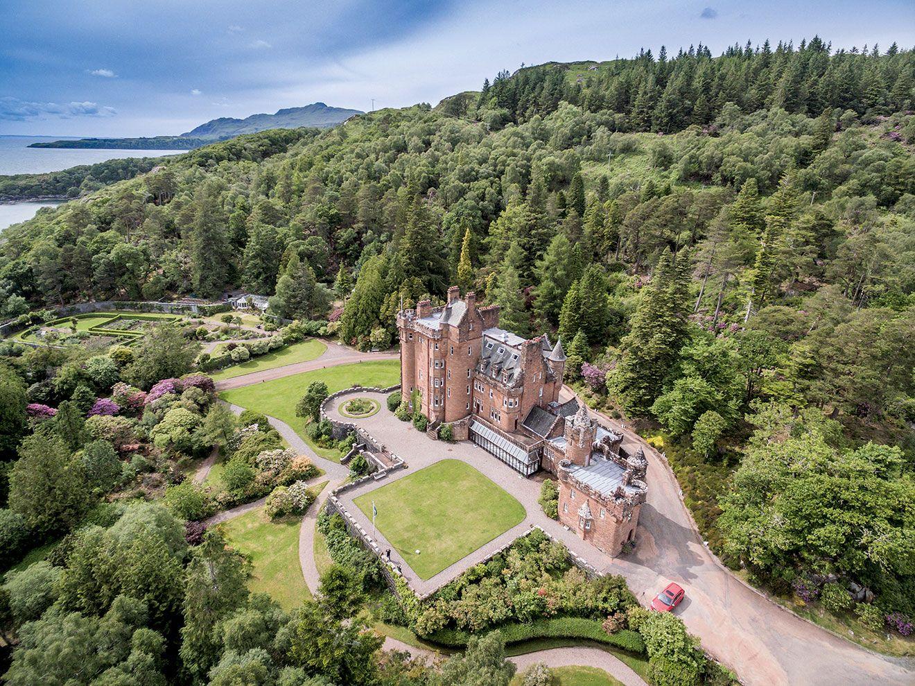 Glenborrodale castle on the ardnamurchan peninsula near acharacle