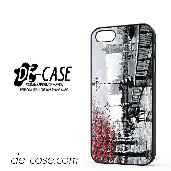Painting View Of London Big Ben DEAL-8379 Apple Phonecase Cover For Iphone SE Case