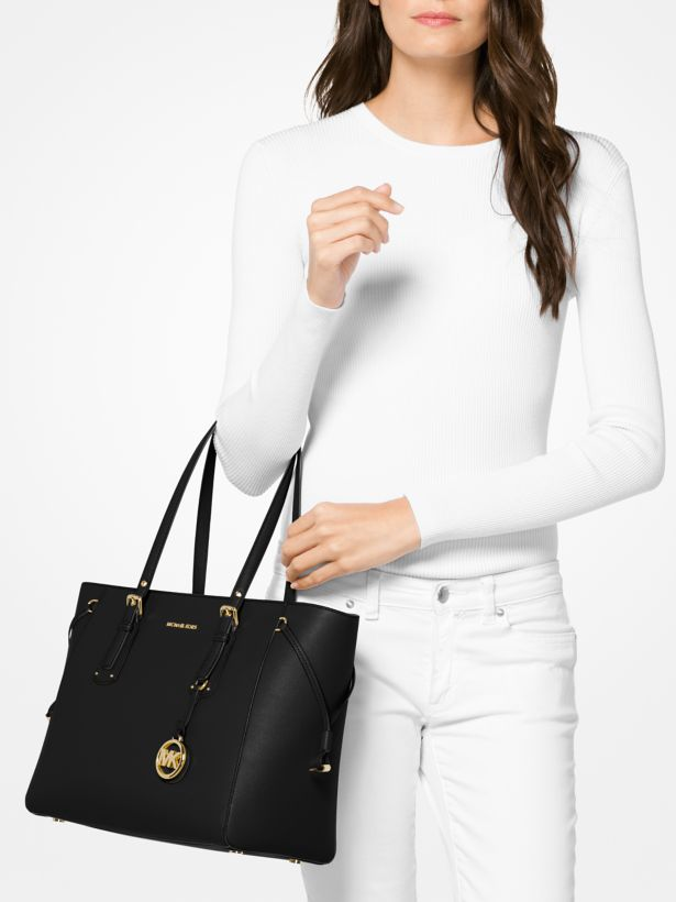 1022afafbcfb Michael Kors Voyager Medium Leather Tote