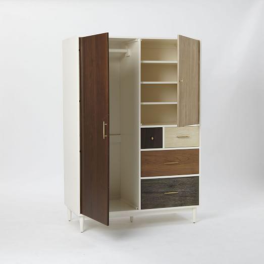 Patchwork Armoire Multi Retro Mid Century Furniture Armoire