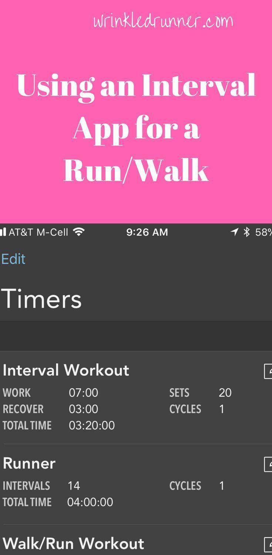 "Apple ""Intervals"" App for Run/Walk or Long Run Fueling"