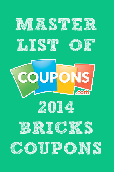 Finally You Can See A Full List Of All The Bricks Coupons Available At Any Given Time Pin Now And Come Back Later Coupons Money Saving Tips Money Saver
