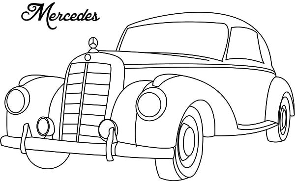 Classic Car Mercedes Coloring Pages Netart In 2020 Classic Cars Cars Coloring Pages Coloring Pages