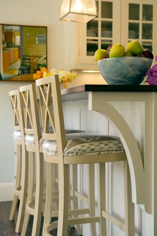 I like this bracing for the new kitchen breakfast bar.  Nice looking and simple.