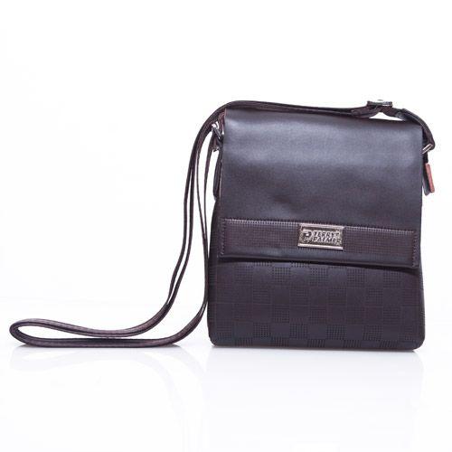 Terry Palmer Brown Check Sling Bag Produk, Pria