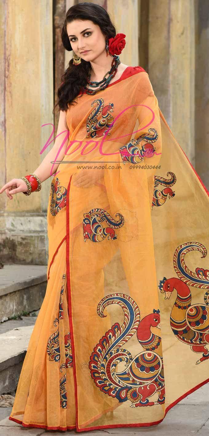 36b9ef36cdc005 Pin by Preksha Pujara on Things to Wear(Sarees) in 2019   Saree painting  designs, Cotton saree designs, Hand painted sarees