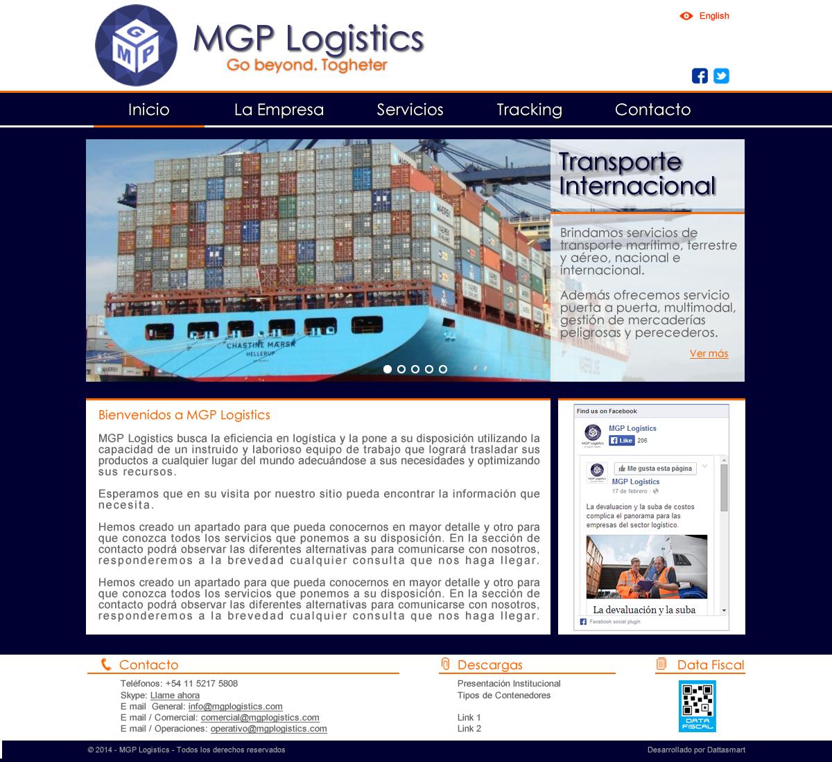 MGP Logistics: rediseño de #SitioWeb #Institucional con tecnología #html5 y #css3. #SitiosWeb #BuenosAires