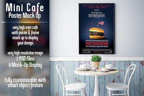 Mini Cafe Poster Mockup Poster Mockup Cafe Posters Mini Cafe