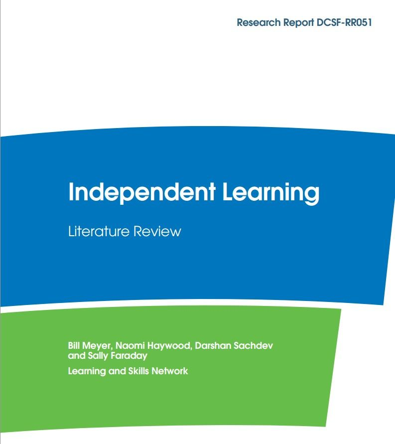 Independent Learning Literature Review  Literature Reviews