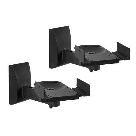 Mount-It Heavy Duty Speaker Wall Mount Universal Adjustable Design For Bookshel