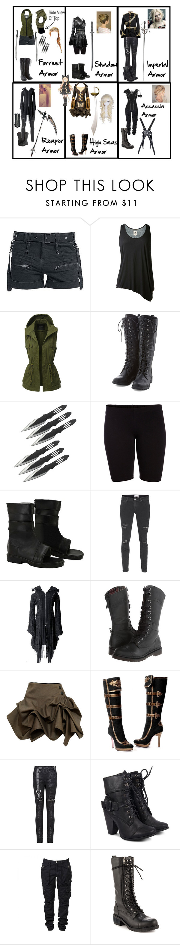 """Luca's Different Armor (Fairy Tail OC #1)"" by chibi-space-gal ❤ liked on Polyvore featuring L'Agence, LE3NO, Pieces, Hell Bunny, Paige Denim, Dr. Martens, Kelly Ewing and Kelsi Dagger Brooklyn"