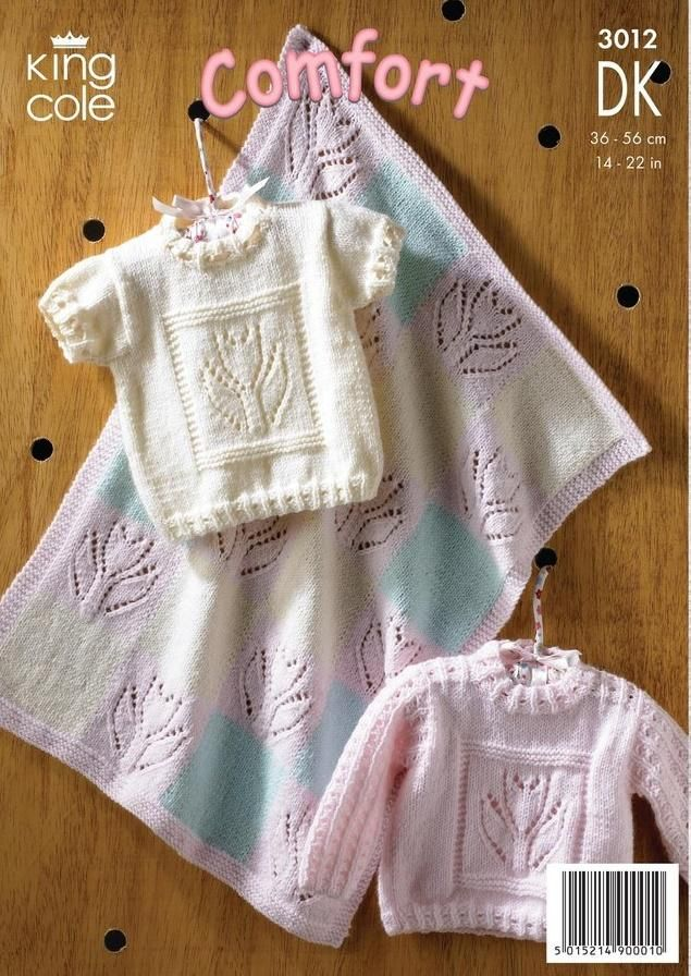 King Cole Comfort DK Pattern 3012 - Sweaters & Blanket ...