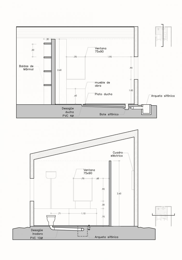 Cubo vestidor para un jardín con balsa / Clara Nubiola