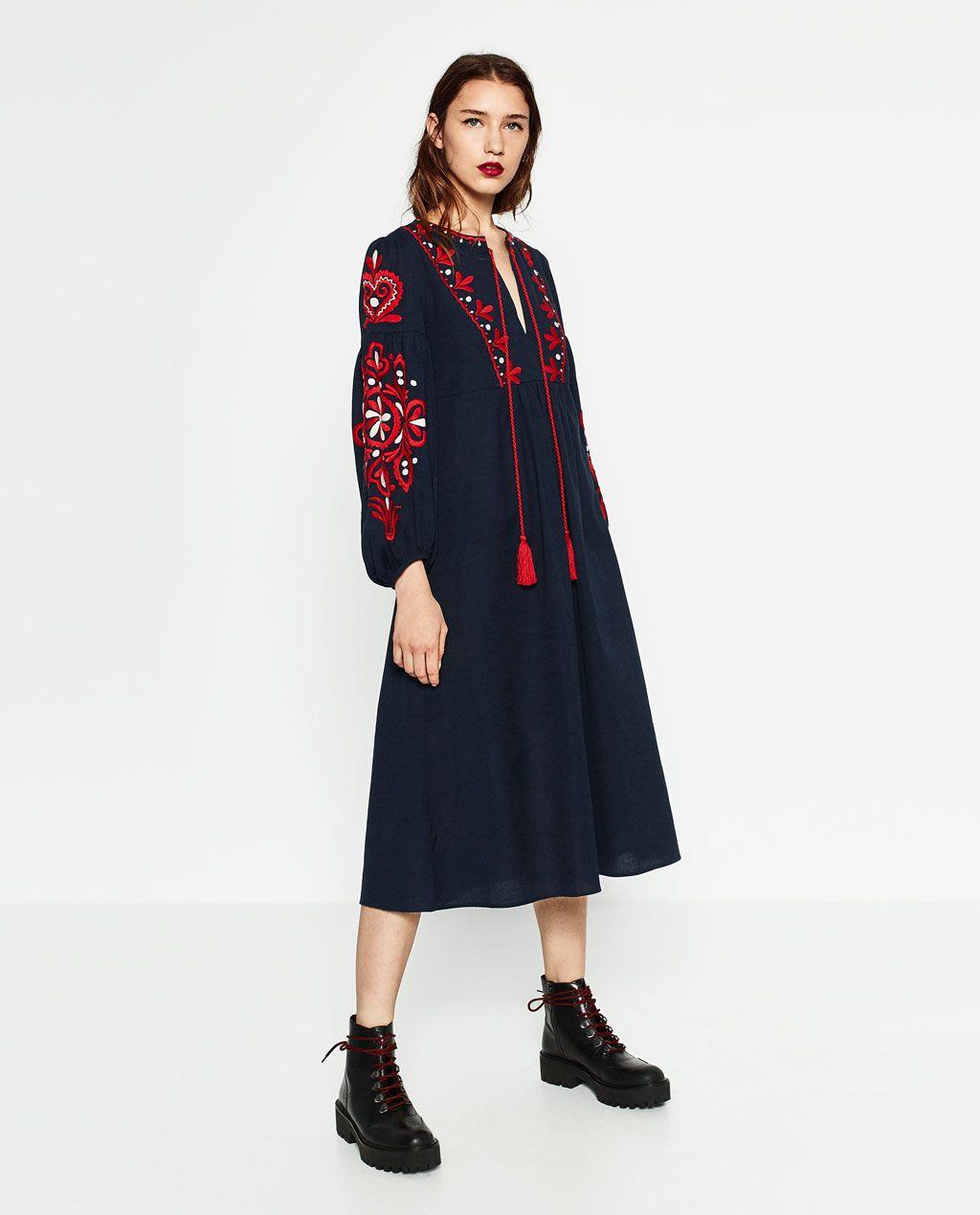b97f4a98c46 Image 1 de ROBE LONGUE de Zara