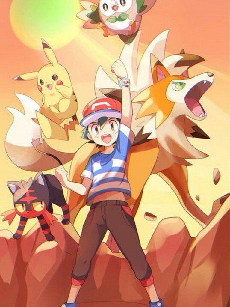 Ash S Team From Season 20 Pokemon Alola Cute Pokemon Wallpaper Pokemon