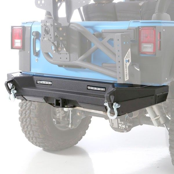 Smittybilt Xrc Gen2 Rear Bumper With 2 Hitch Receiver Textured Matte Black Smittybilt 2017 Jeep Wrangler Unlimited Jeep Wrangler Tj