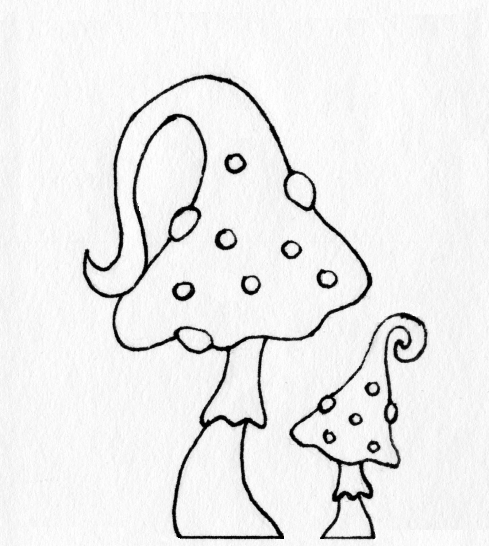 Coloring Page Wizard Hat Mushroom By Blackcatstitchcrafts On Etsy Coloring Pages Wizard Hat Etsy