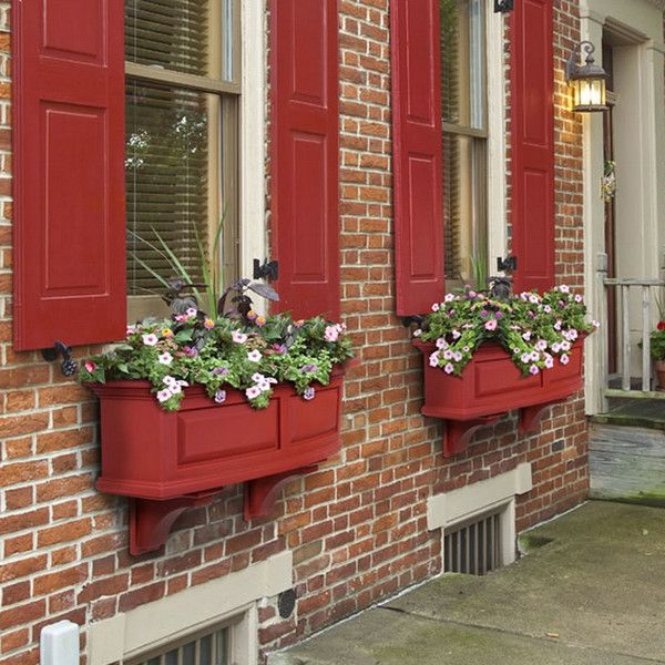 Baker Nantucket 3 Ft. Window Box (Red) ($120)