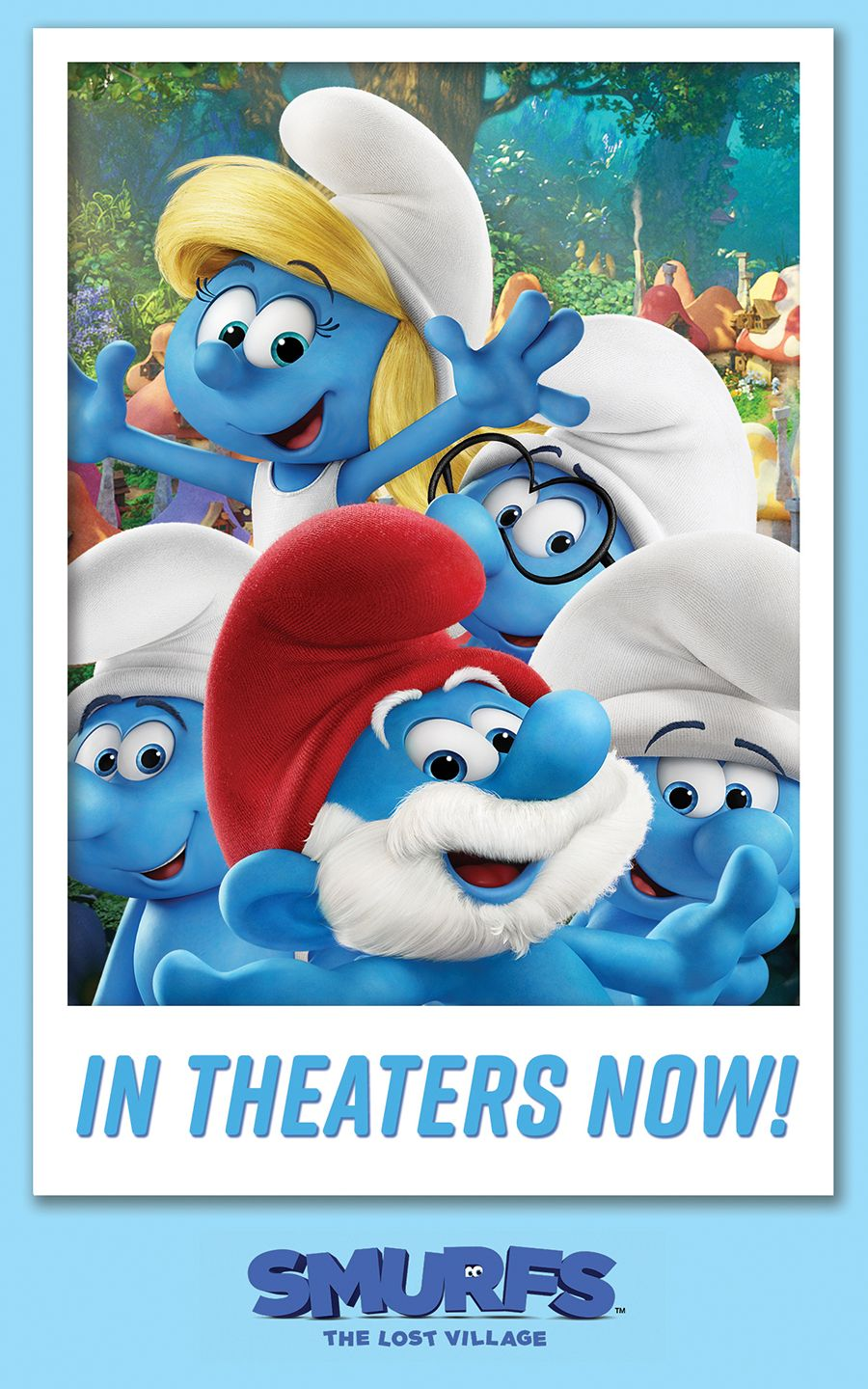 SMURFS THE LOST VILLAGE Is An All New Animated Smurfs Adventure Screening In Theaters Over The Country Catch Smurfette