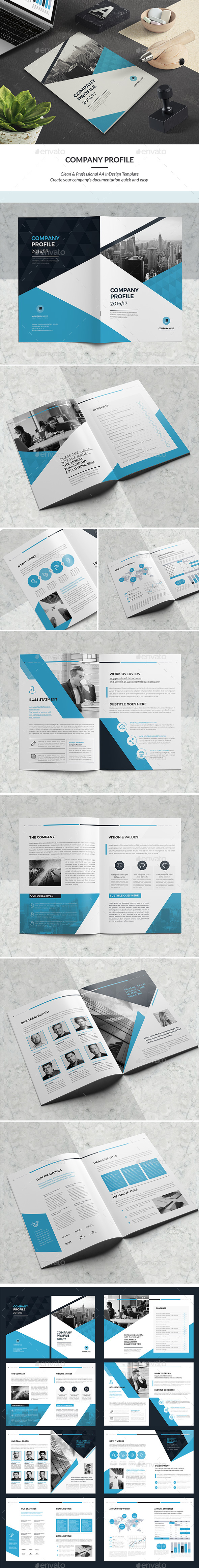 Company Profile Brochure Template InDesign INDD - 16 Pages | Katalog ...