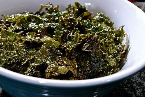 Brown Sugar Kale Chips  http://leafyeats.blogspot.com/2012/03/brown-sugar-kale-chips.html
