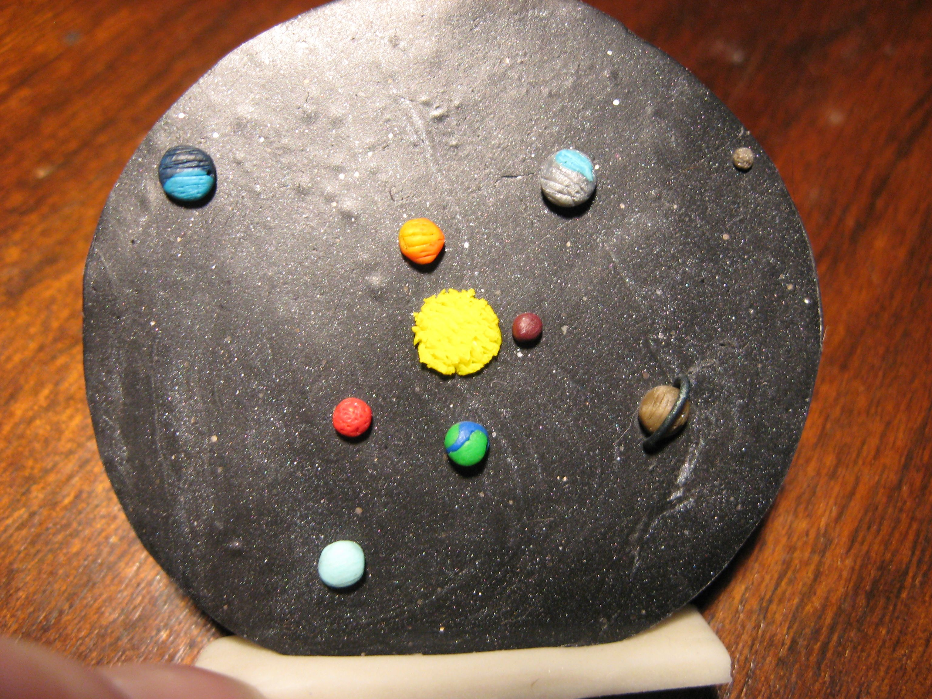 Solar system at an inch and a half