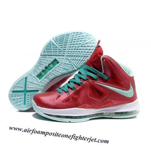 new concept bd8c5 47488 Nike Lebron X 10 2012 P.S. Christmas Red White Green New