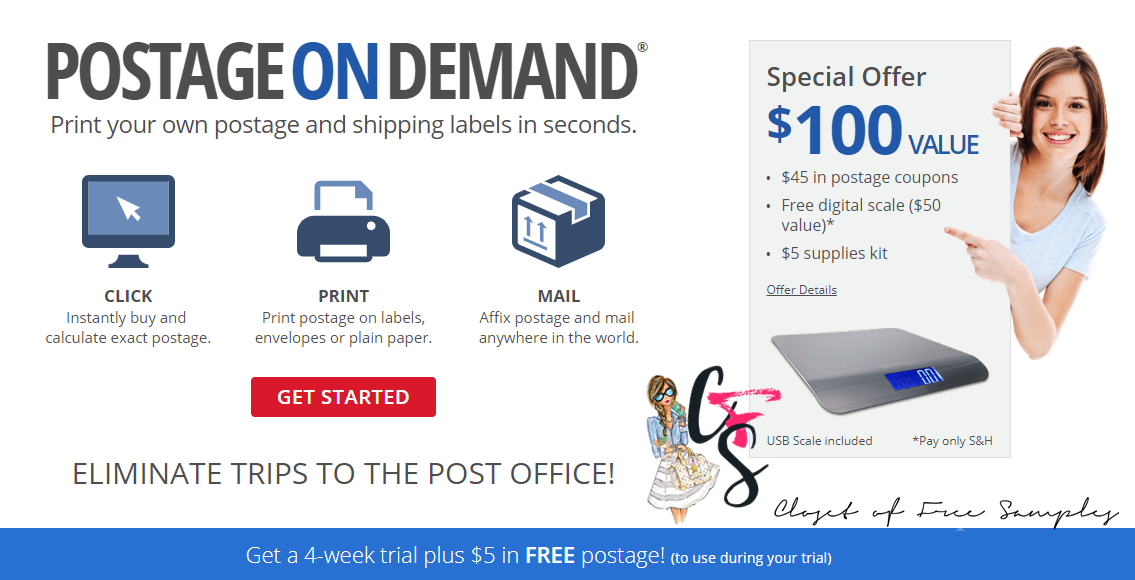 Special Postage Offer of $100 Value at Stamps com!: 2019
