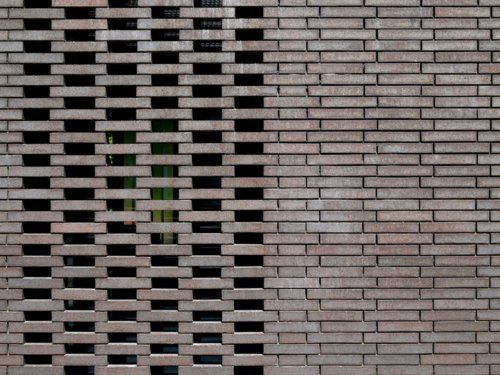 Would Work As A Garden Trelles Build As It Grows Brick Detail Brick Architecture Brick Facade