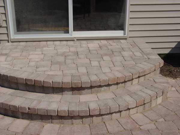 Paver bricks grayslake lake county il stoop design - Brick porch steps designs ...