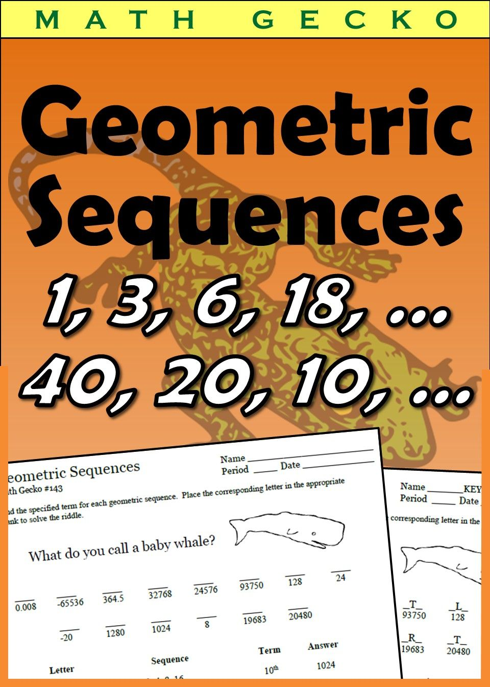 Geometric Sequences Riddle In 2021 Geometric Sequences Riddles Geometric