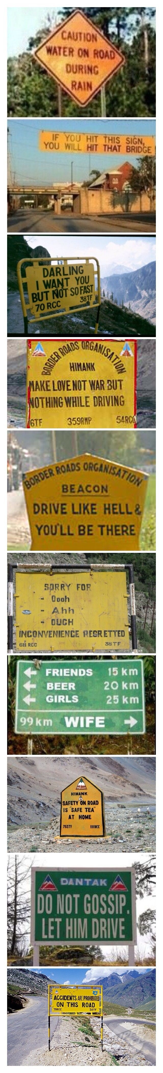 Funny Road Signs In India Road Signs In India Funny Road Signs