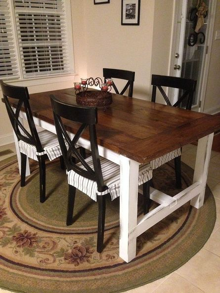Diy Farm Table On The Cheap Remodel Furniture Diy Diy Farm Table Diy Farmhouse Table