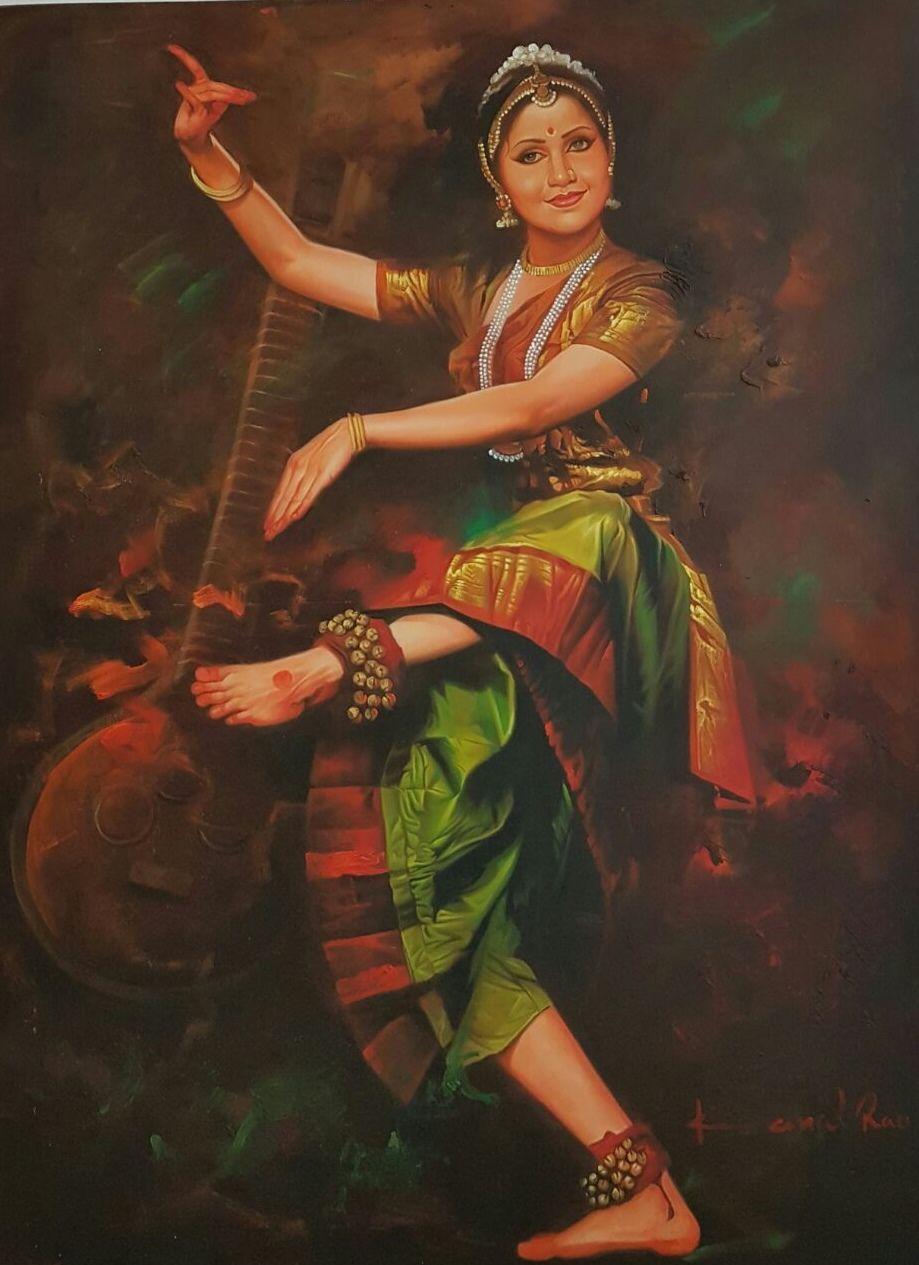 Kamal Rao Dancer Painting Dancing Lady Painting Dance Paintings
