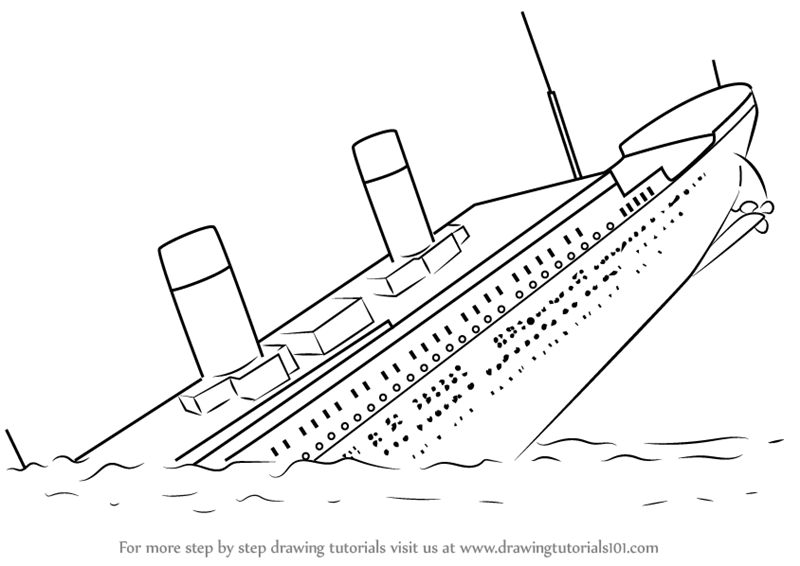 Learn How To Draw Titanic Sinking Boats And Ships Step By Step Drawing Tutorials In 2020 Titanic Sinking Titanic Drawing Titanic Art