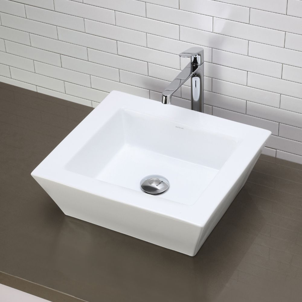 Decolav Clically Redefined Square China Vessel Sink At Lowe Canada Find Our Selection Of Bathroom Sinks The Lowest Price Guaranteed With