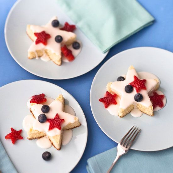 sweet star spangled pound cakes with buttermilk lemon icing