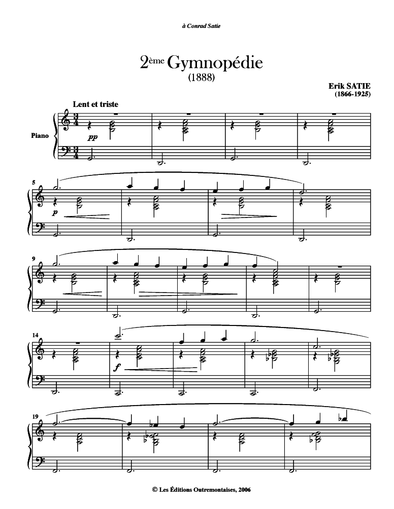 how to play gymnopedie 1 on piano