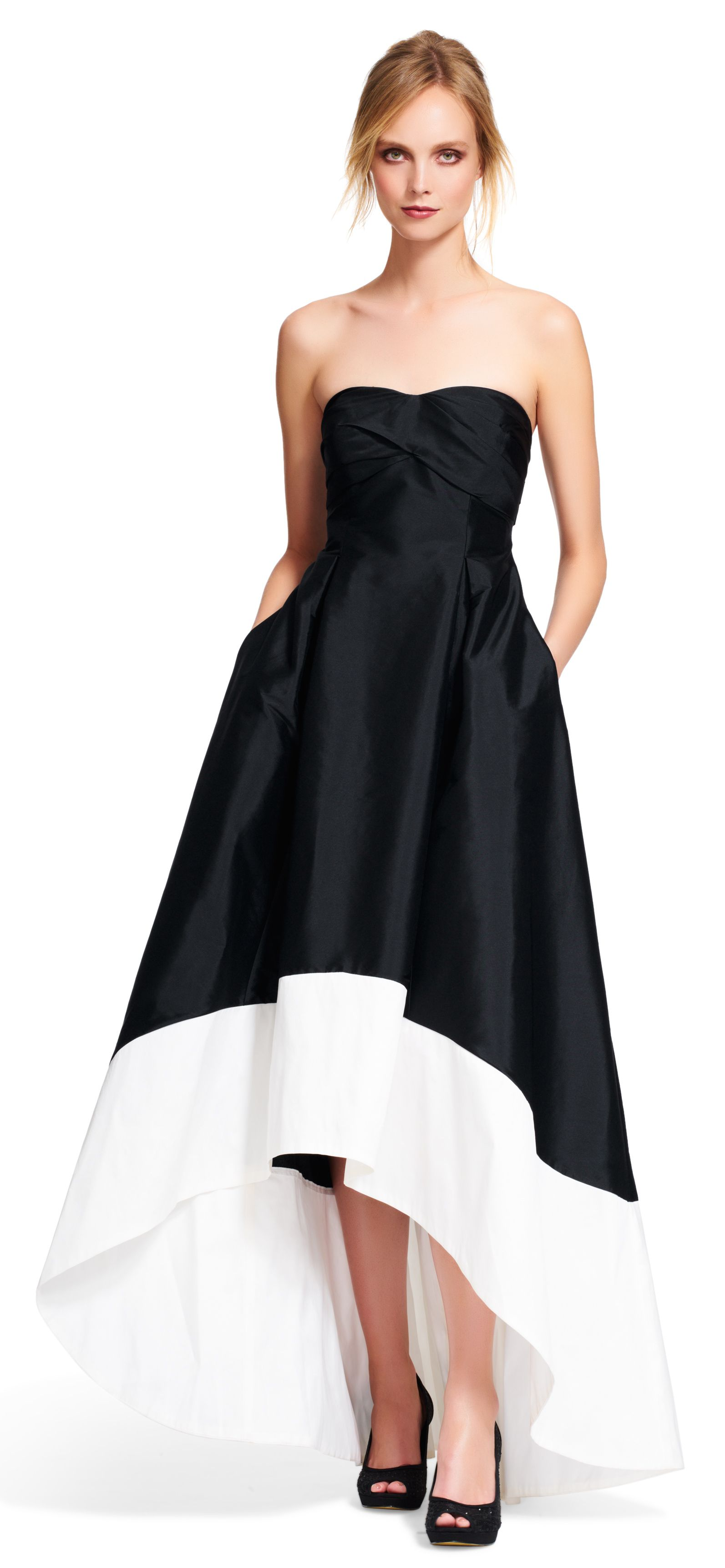Strapless Colorblock High Low Ball Gown | Glamorous Gowns & Dresses ...