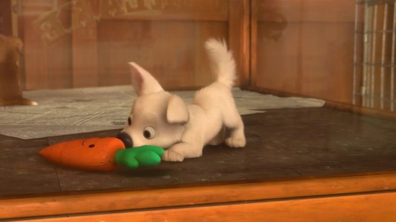 Bolt As A Puppy Playing With His Mr Carrot Risunki Disneya Disneevskie Temy Multfilmy