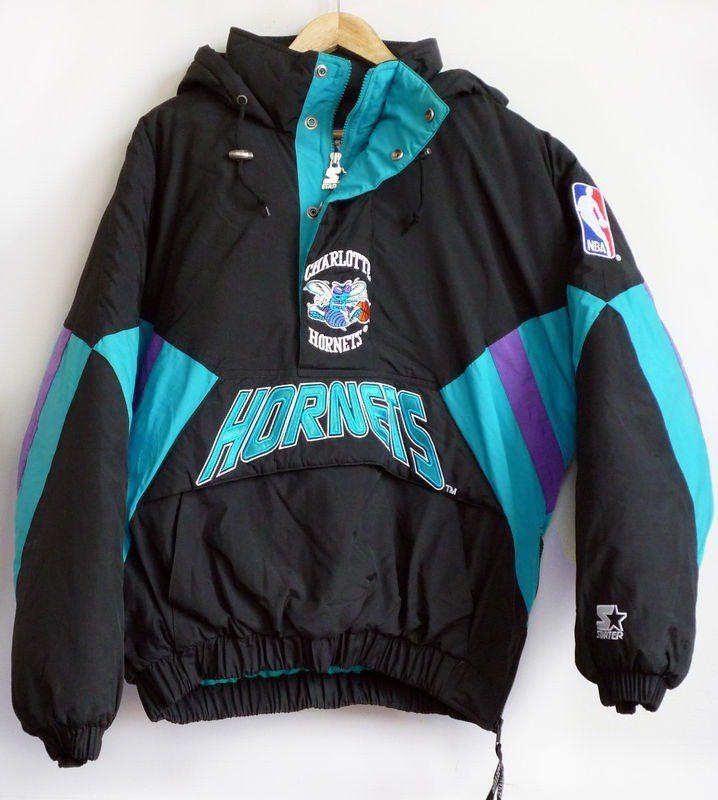 Vintage Charlotte Hornets Starter Pullover  6bc2a42d3