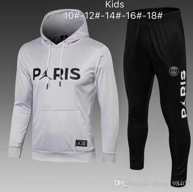 c24b8070381c0 Kids tracksuit 2018 2019 Jordam X PSG hoodie Champions League Survetement 18 19  training suit