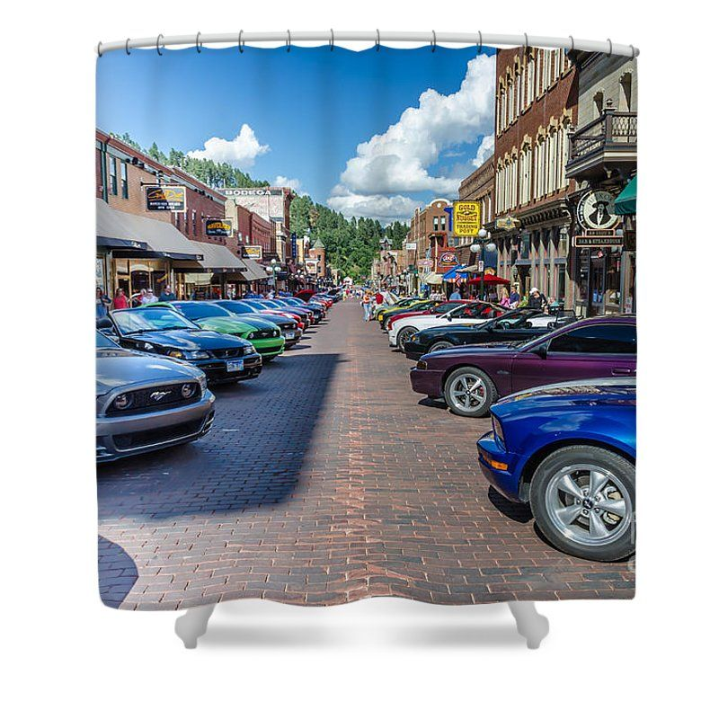 Ford Mustang Rally Shower Curtain Featuring The Photograph Deadwood Sd By Debra Martz