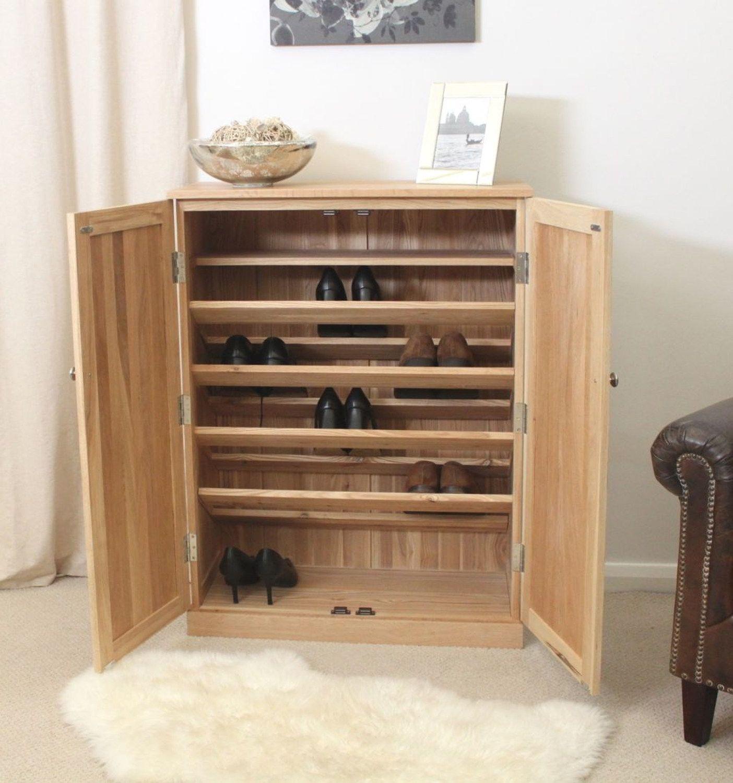 Hallway furniture oak Pine Shoe Storage Cabinets  divulgamaisweb  Pinterest
