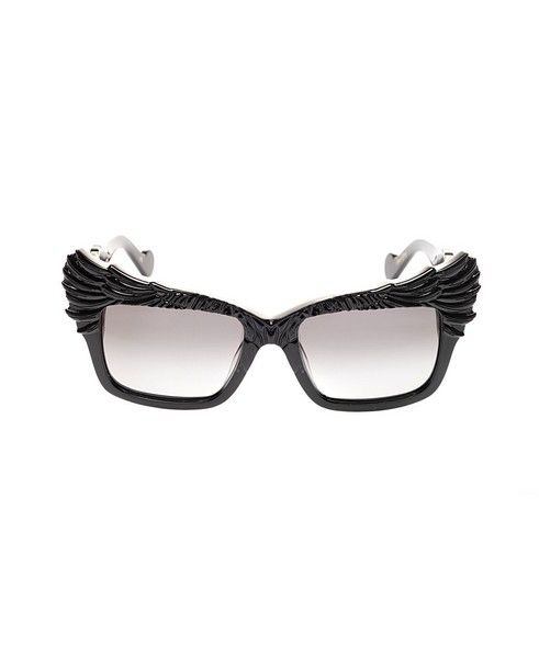 ANNA-KARIN KARLSSON Sunglasses The Escapist shiny black variant black on the inside shaded grey lenses acetate material supplied with sunglasses case and box