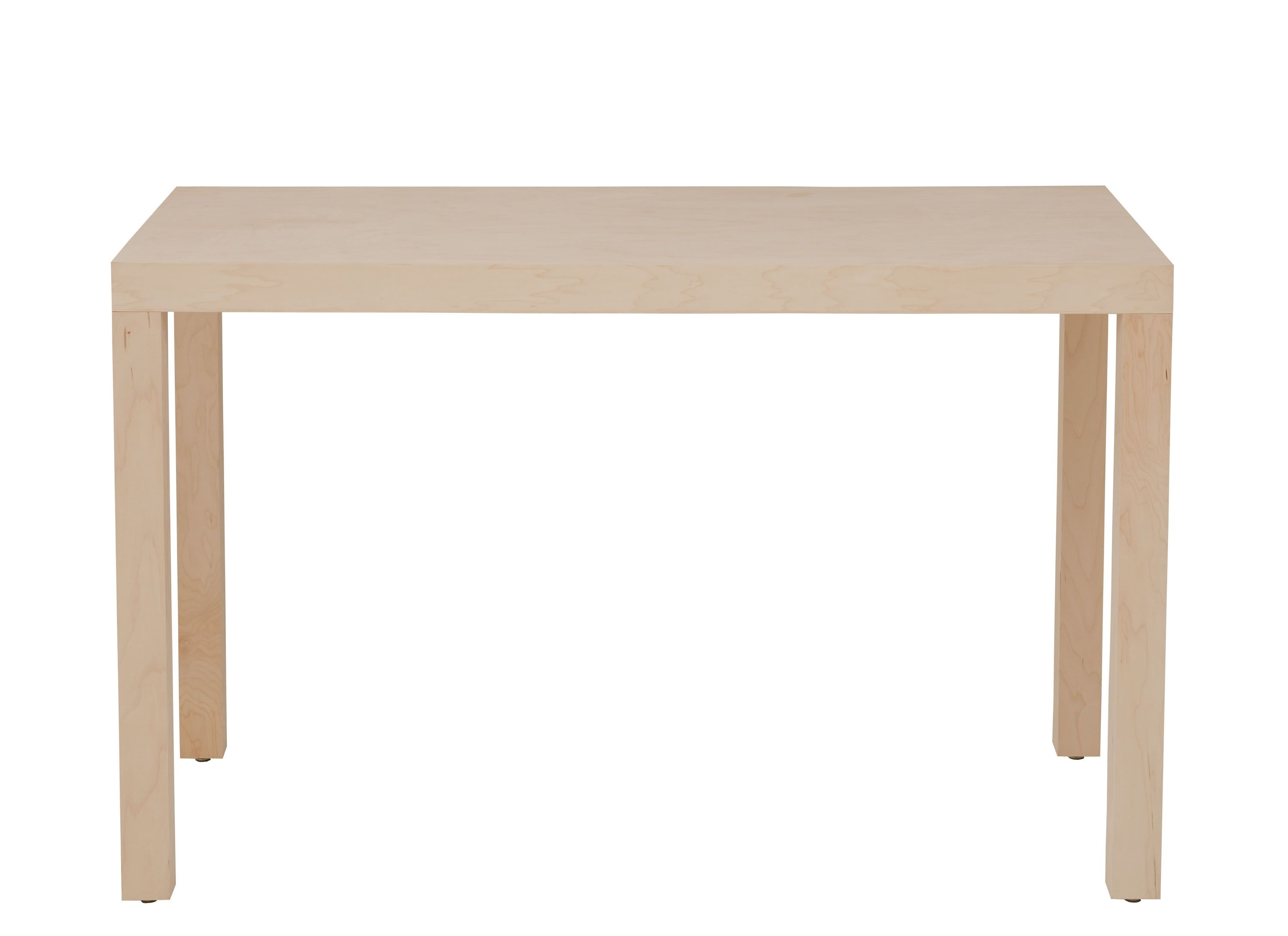 The Parsons Table An Iconic Design From The 1930 S Brings Classic Modernist Design To Your Home Handc Unfinished Wood Furniture Furniture Wood Dining Table