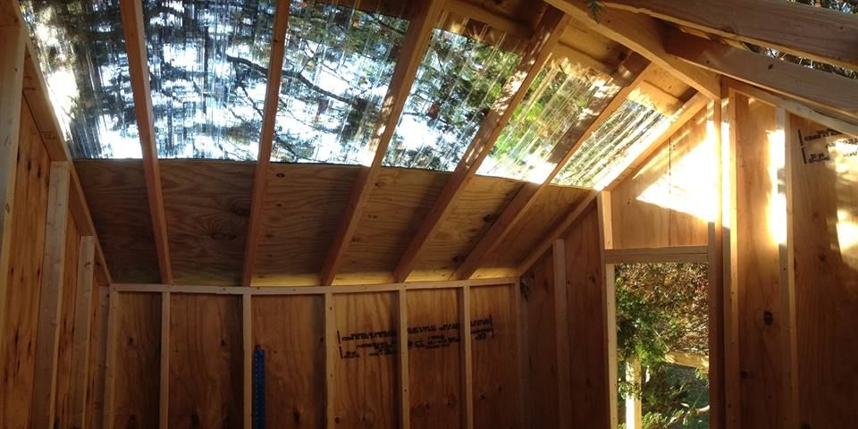 Full Spectrum Treehouse Skylights Tree house, Building a