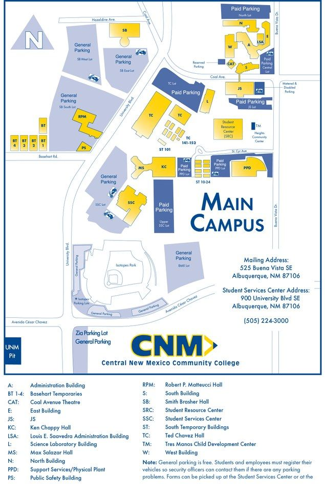 Cnm Main Campus Map Cnm Main Campus Map | States Maps